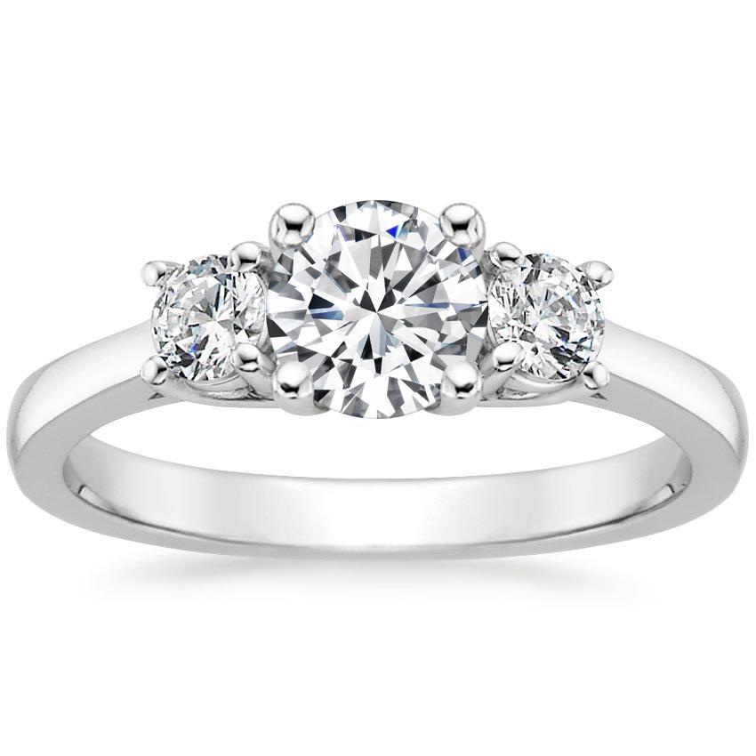 cc7072b5acfaa Round Three Stone Engagement Ring Setting