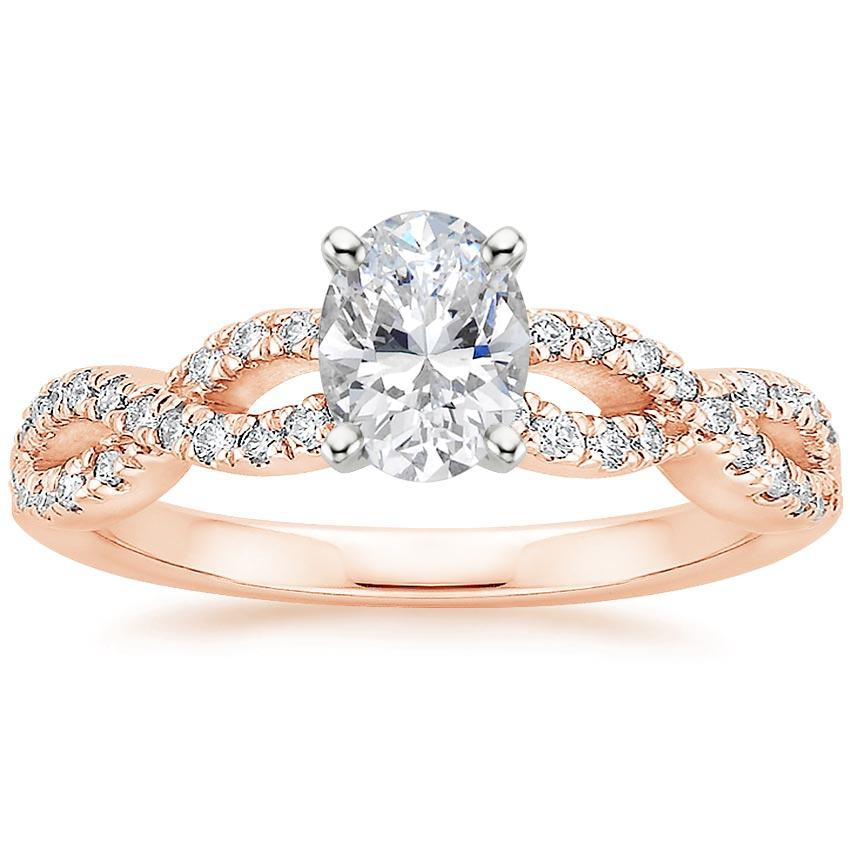 Beautiful Wedding Rings.14k Rose Gold Infinity Diamond Ring