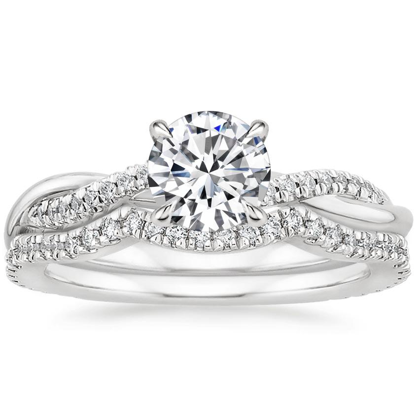 D//Clear Diamond Wedding Bridal Set White Gold Finish Round Cut Engagement Ring