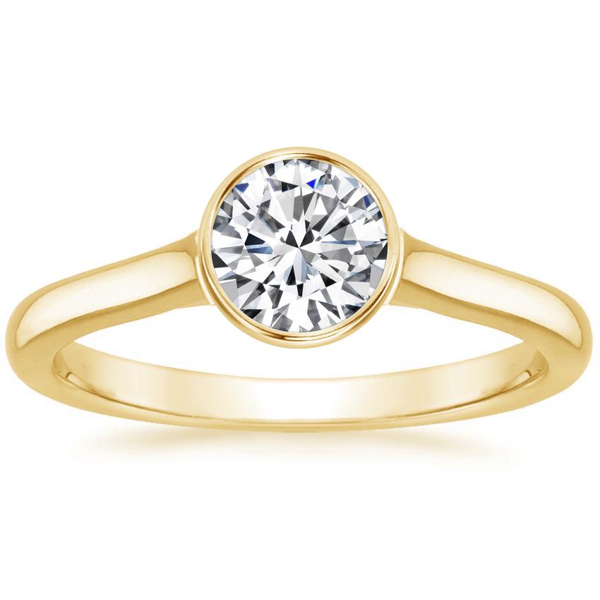 Bezel Set Engagement Ring Luna Brilliant Earth