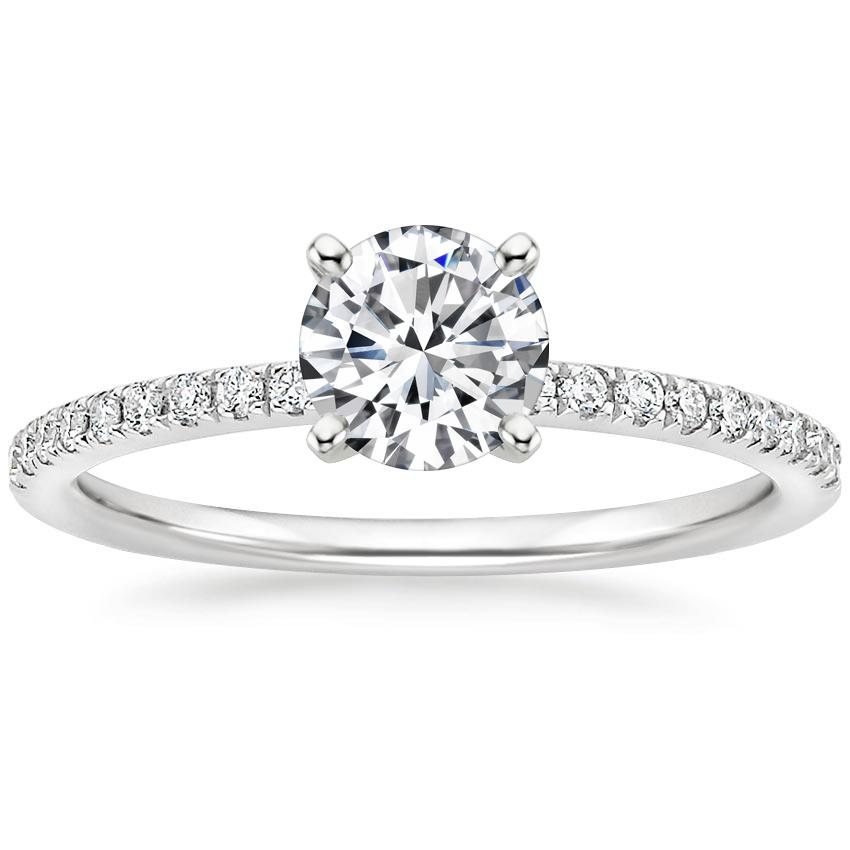 86c854a5a52e0 18K White Gold Ballad Diamond Ring (1/8 ct. tw.)
