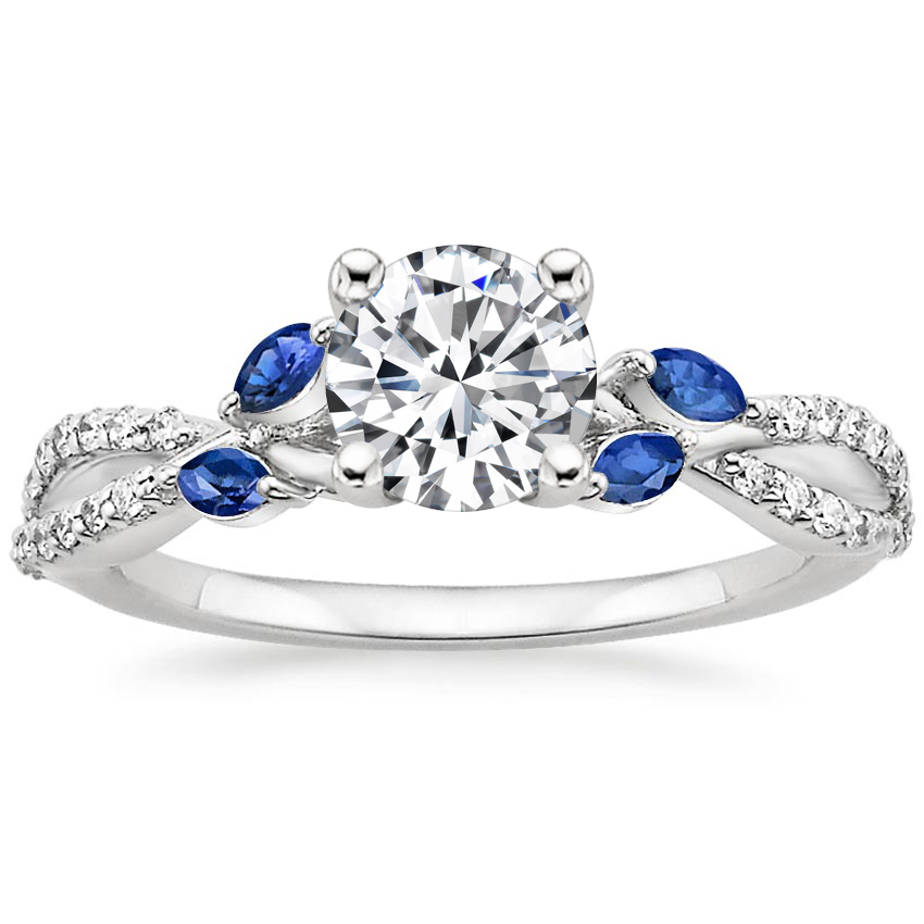 Engagement Ring With Sapphires Willow Brilliant Earth