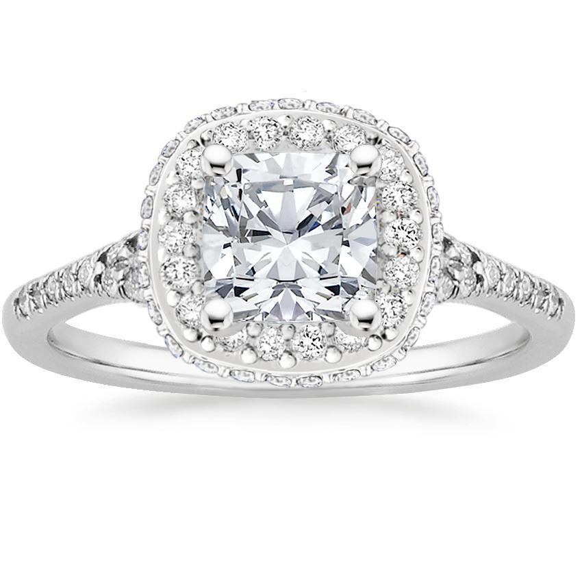 b2d04513f909 Cushion Double Halo Engagement Ring