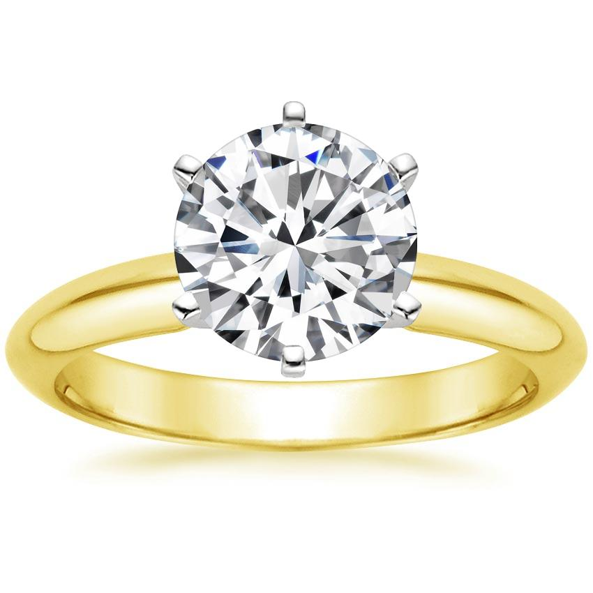 b81f1a5b67658 Round Traditional Engagement Ring. Loading zoom. Shown with 2 Carat Diamond