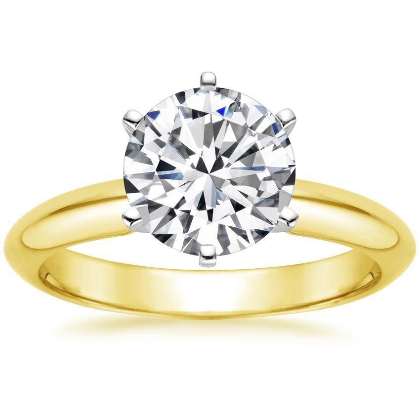 366e2c8cf194d 18K Yellow Gold Six-Prong Classic Ring