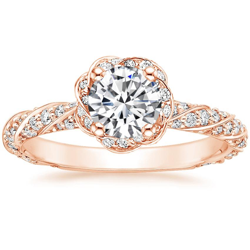 174feed7c43f Round Twisted Halo Engagement Ring