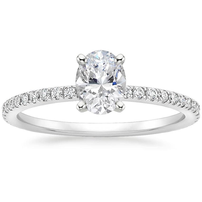 Diamond Wedding Rings.18k White Gold Luxe Ballad Diamond Ring 1 4 Ct Tw