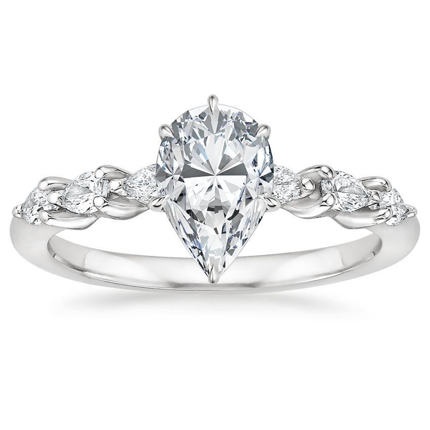 b579cbbdc017 Pear Pear Diamond Engagement Ring