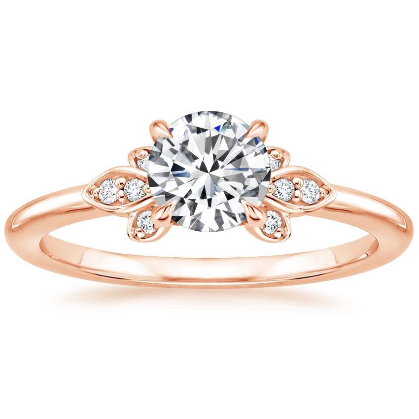 Beautiful Wedding Rings.14k Rose Gold Fiorella Diamond Ring