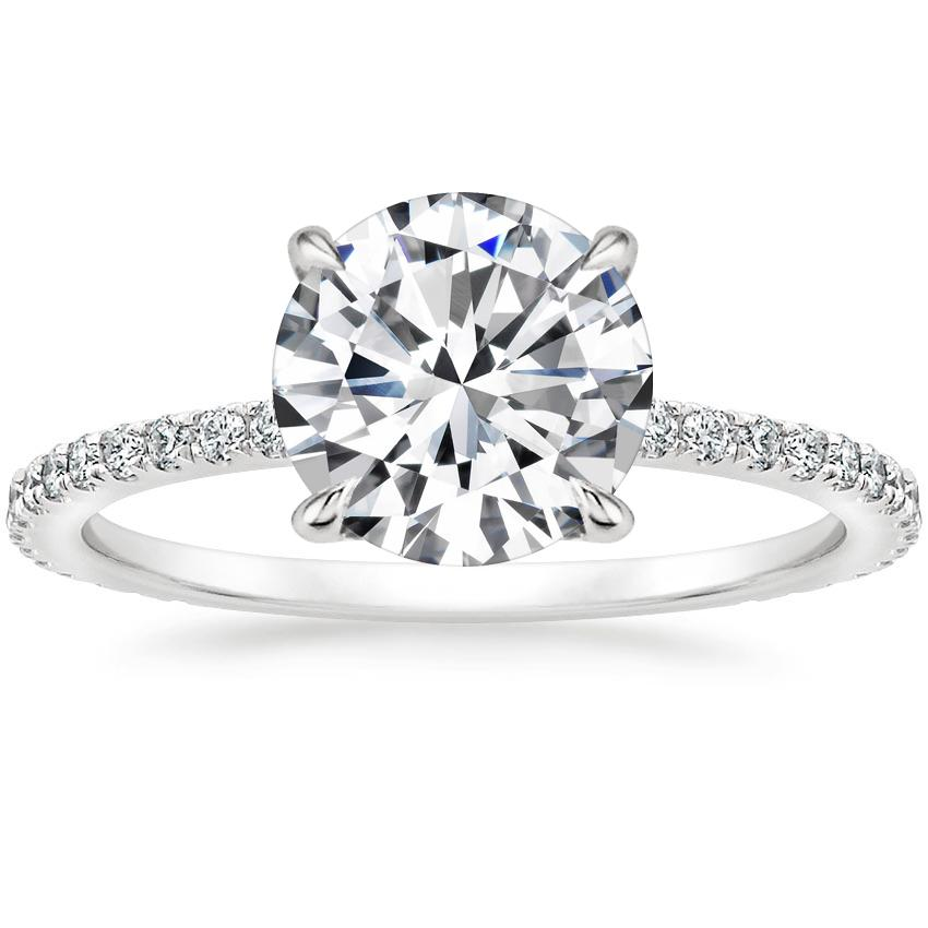 7082915bea36 Round Hidden Halo Engagement Ring. Loading zoom. Shown with 2 Carat Diamond