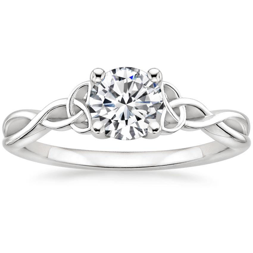 Entwined Celtic Love Knot Engagement Ring Brilliant Earth