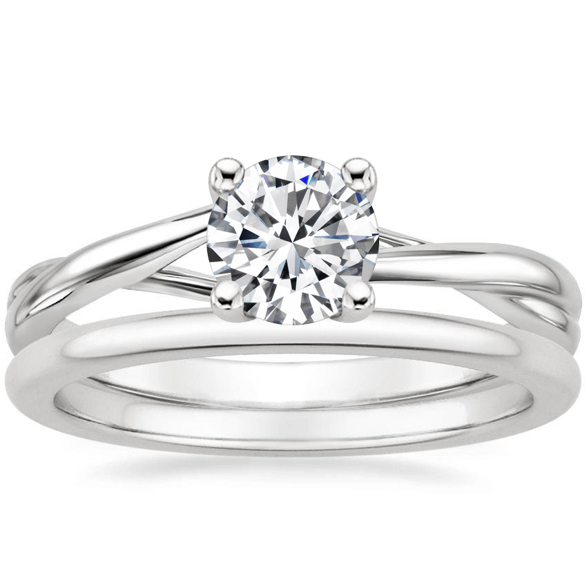 18K White Gold Grace Ring with Petite