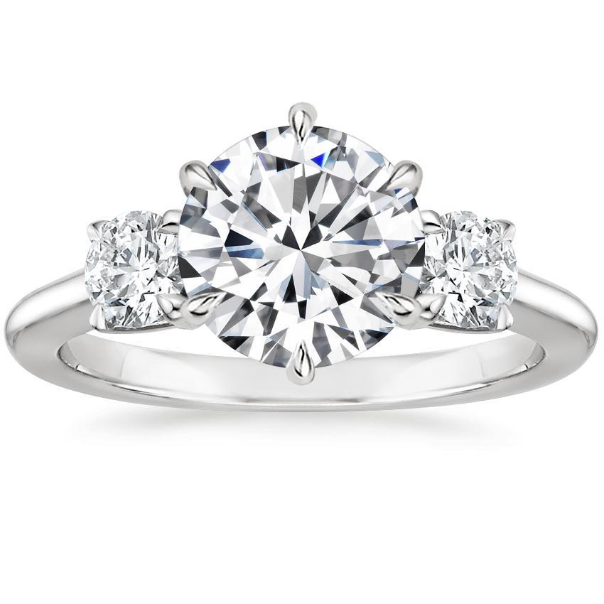 dcc381fc483 Round Three Stone Diamond Ring. Loading zoom. Shown with 2 Carat Diamond