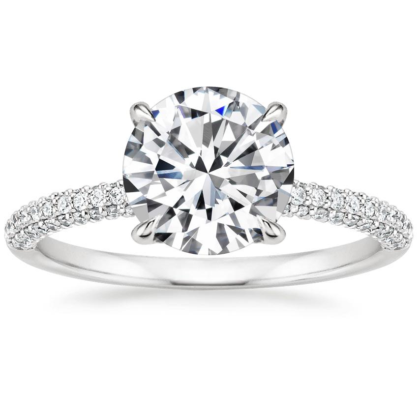 Micro Pave Diamond Ring Valencia Brilliant Earth