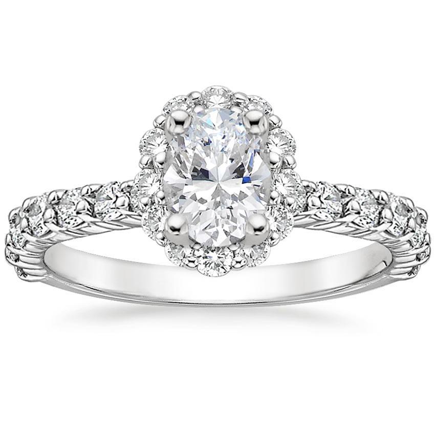 Lotus Engagement Ring Lotus With Sidestones Brilliant Earth