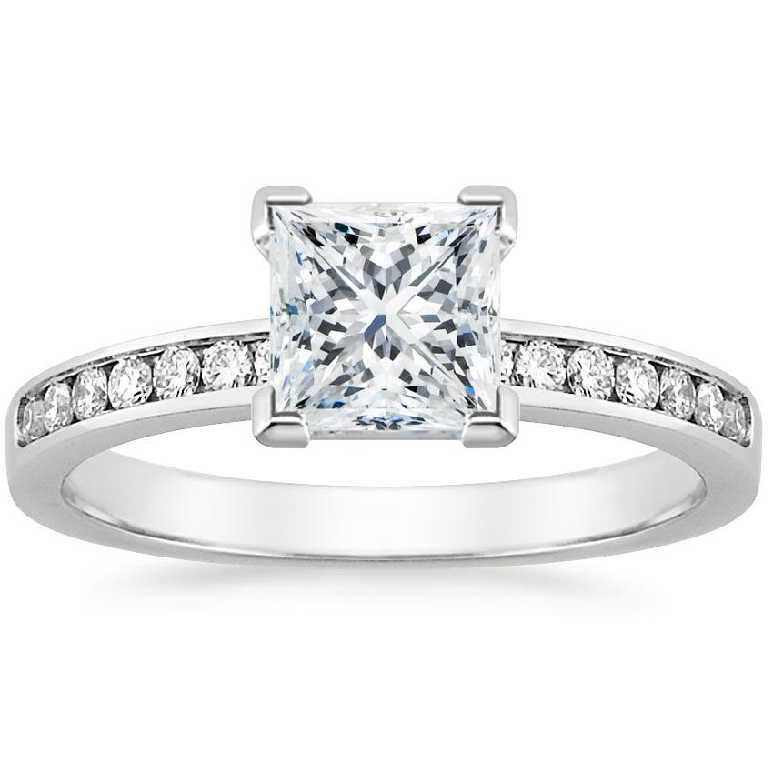 4436fccb96 18K White Gold Petite Channel Set Round Diamond Ring