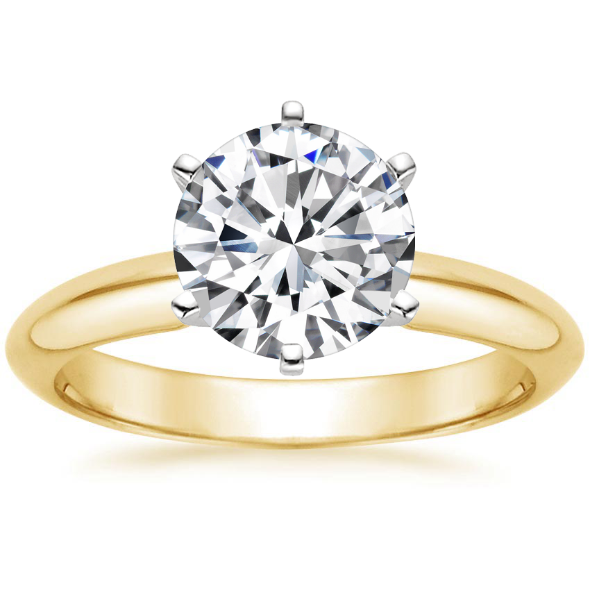 Traditional Engagement Ring Six Prong Classic Brilliant Earth