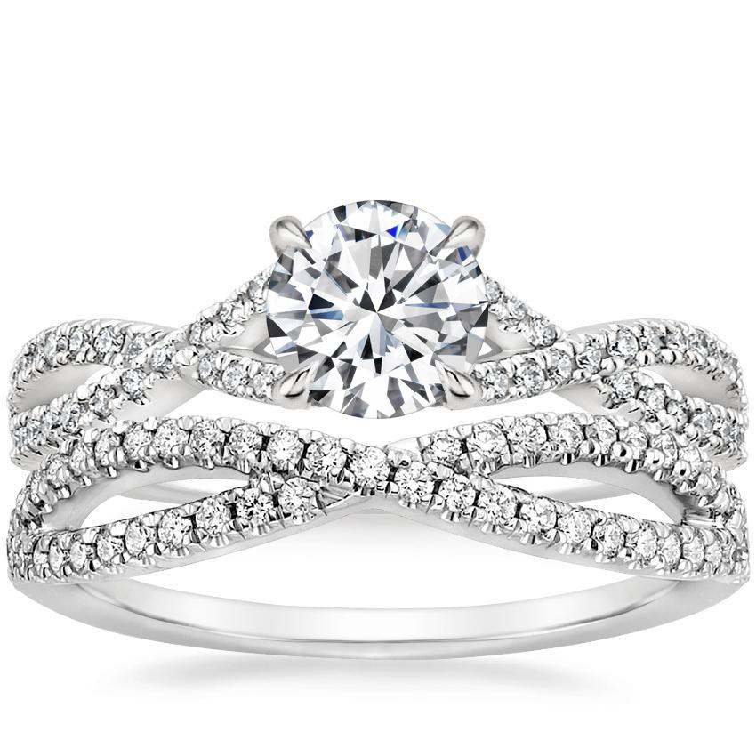 18k White Gold Chloe Diamond Ring 1 4 Ct Tw With Entwined