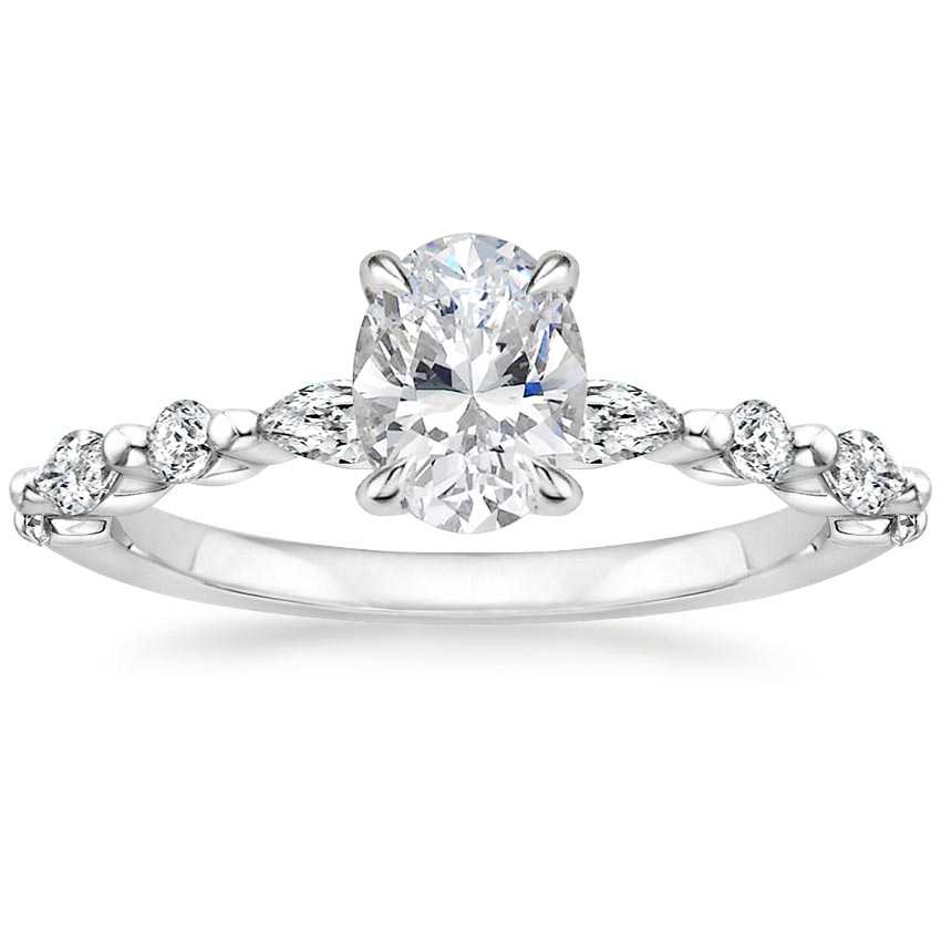 Round And Marquise Engagement Ring Versailles Brilliant Earth
