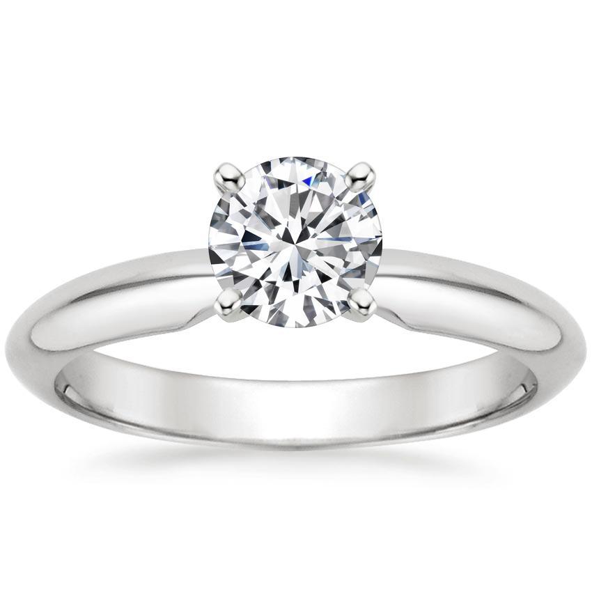 ab49b2273c65e 18K White Gold Four-Prong Classic Ring