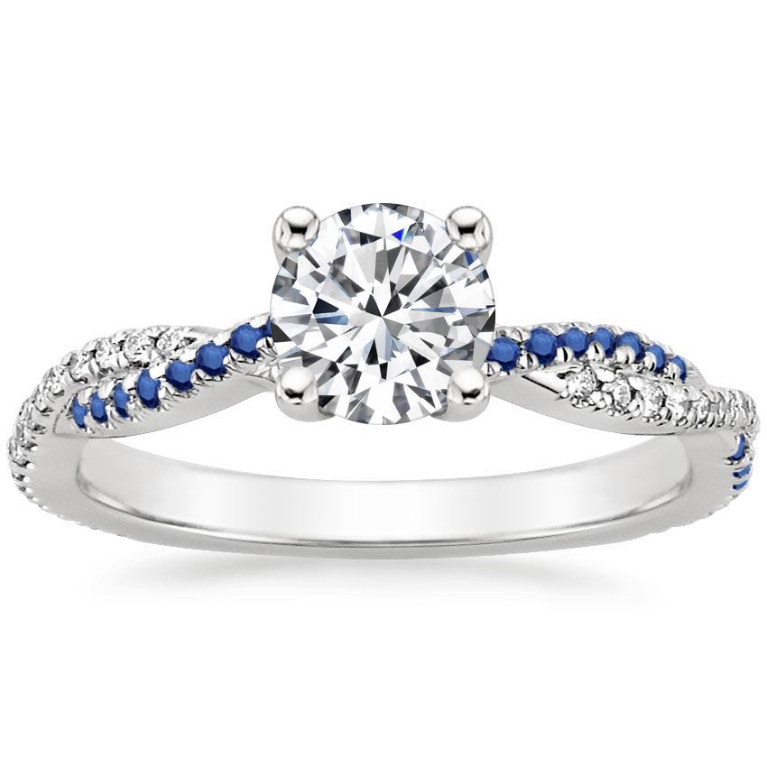 Petite Twisted Vine Sapphire And Diamond Ring Brilliant Earth