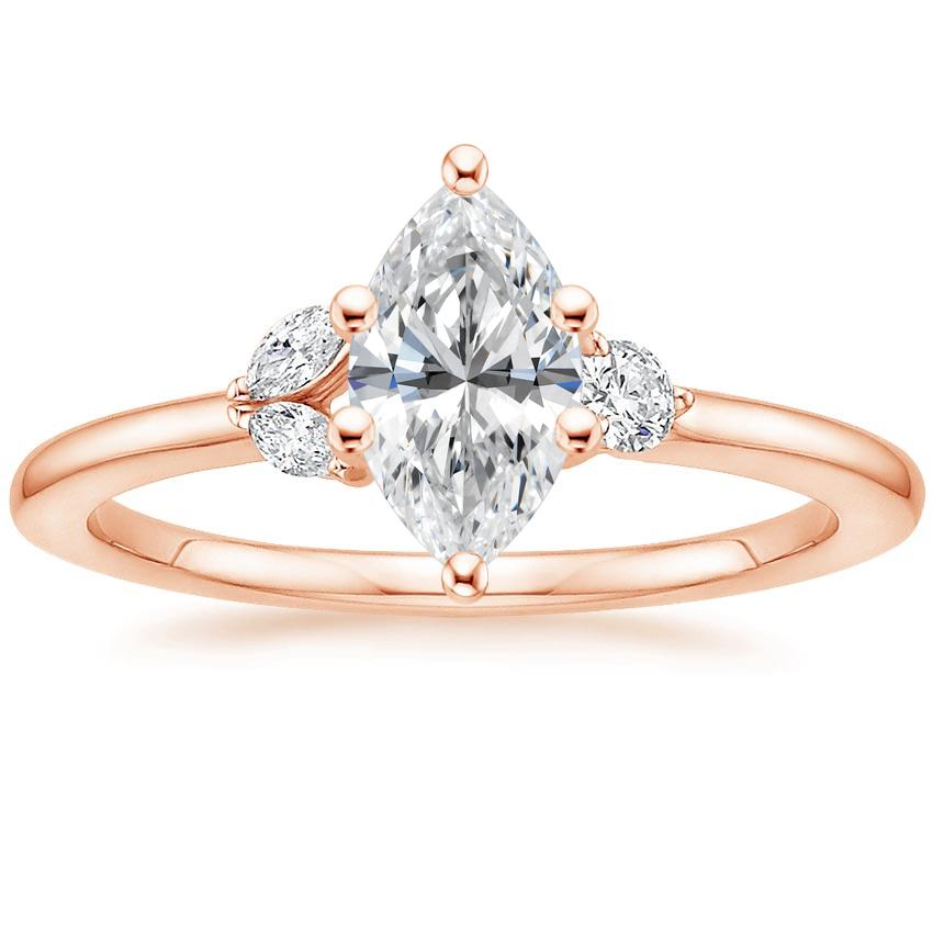 Marquise Petal Engagement Ring Bloom Brilliant Earth