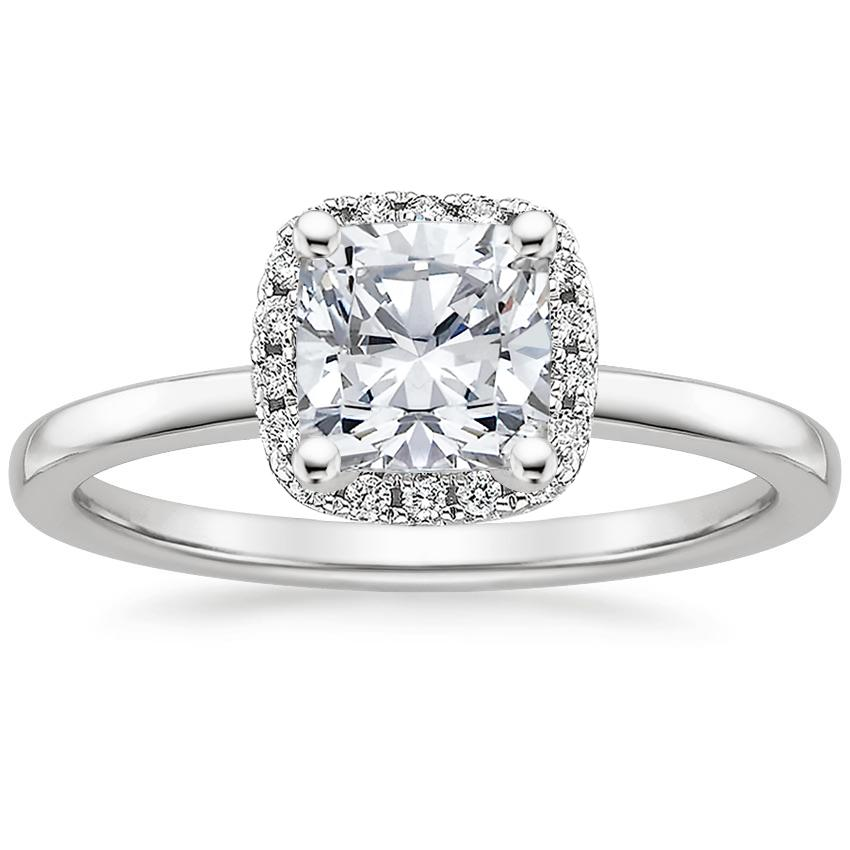 Pave Diamond Ring French Halo Brilliant Earth