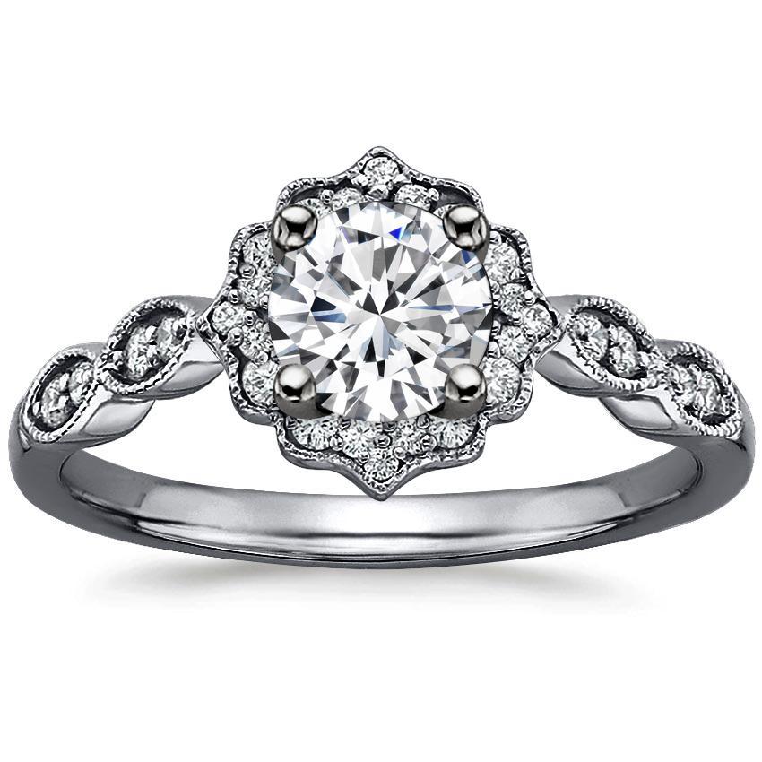 f36f2f92ada25 18K White Gold Black Rhodium Cadenza Halo Diamond Ring