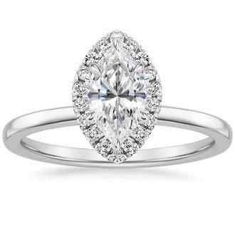 18k white gold vienna diamond ring - Marquise Diamond Wedding Ring