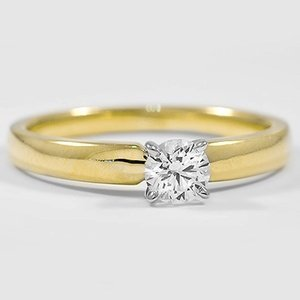18K Yellow Gold 3mm Comfort Fit Ring