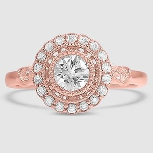 14K Rose Gold Bella Diamond Ring