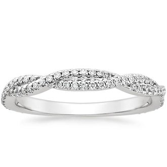 18k white gold petite luxe twisted vine diamond ring - White Gold Wedding Rings For Her