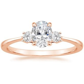 14k rose gold selene diamond ring - Three Stone Wedding Rings
