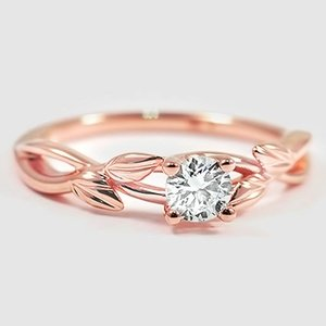 14K Rose Gold Budding Willow Ring
