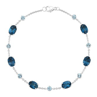 Maris London Blue Topaz and Aquamarine Bracelet Image