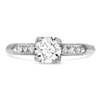 Vintage Platinum Engagement Rings Brilliant Earth