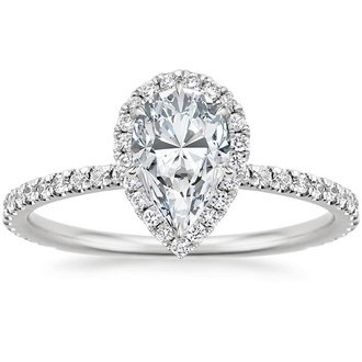 Charmant 18K White Gold. WAVERLY DIAMOND RING ...