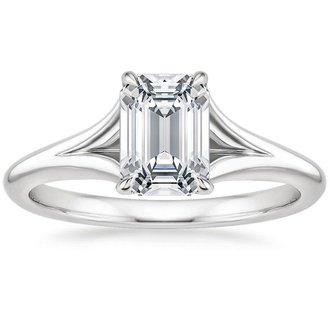 18k white gold reverie ring - Emerald Cut Wedding Rings