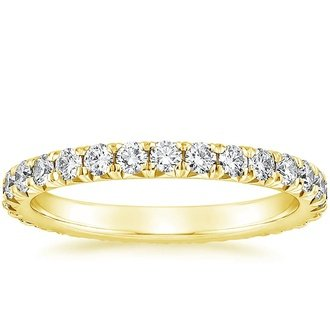 18k yellow gold sienna eternity diamond ring - Wedding Rings Yellow Gold