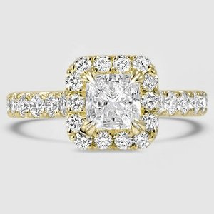 18K Yellow Gold Stella Diamond Ring