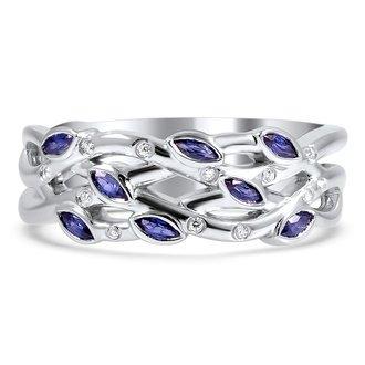 sapphire blooming wedding ring