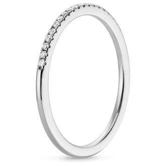18k white gold whisper diamond ring - Wedding Rings White Gold