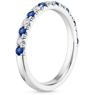 18k white gold - Sapphire Wedding Ring