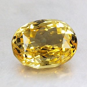 8x6mm Unheated Yellow Oval Sapphire