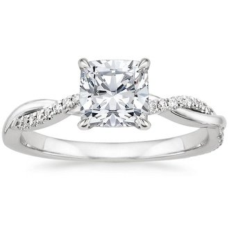 ring diamond engagement style rings diamonds and real with split pave shank cushion shaped bridal cut