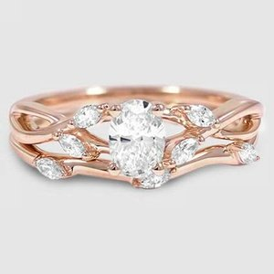 14K Rose Gold Willow Bridal Set (1/4 ct. tw.)