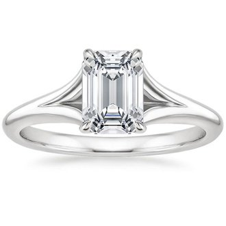 18k white gold reverie ring - Emerald Cut Wedding Rings
