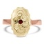The Masha Ring, smalltop view