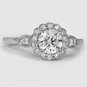Platinum Camillia Diamond Ring