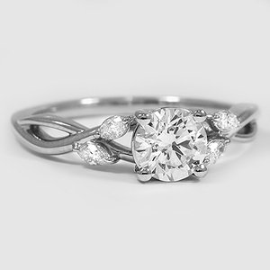 Platinum Willow Diamond Ring (1/8 ct. tw.)